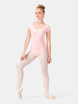 Adult Princess Seam Cotton Cap Sleeve Leotard - Style No M515L