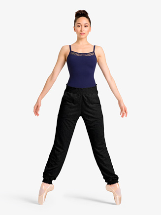 Womens Gathered Waistband Warm Up Sweat Pants - Style No M6036Lx