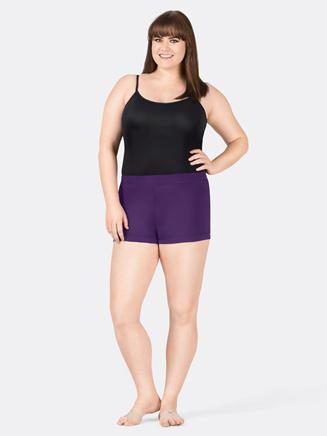 Adult Plus Size Banded Leg Boy Cut Dance Short - Style No M7141Wx