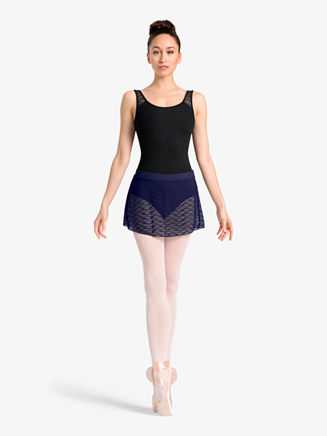 Womens Wavy Mesh Pull-On Ballet Skirt - Style No MS109