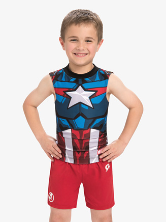Boys/Mens Marvel Red Avengers Shorts - Style No MV035C