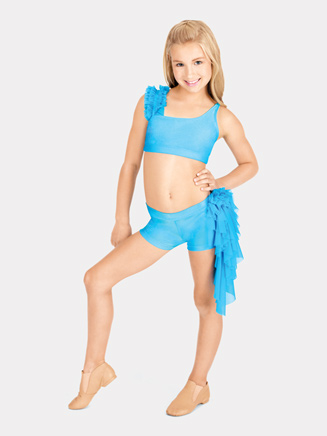 Child Mesh Ruffle Dance Short - Style No N7082C