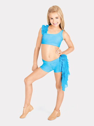 Child One Shoulder Ruffle Bra Top - Style No N7084C