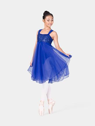 Adult Sequin Bodice Chiffon Dress - Style No N7093