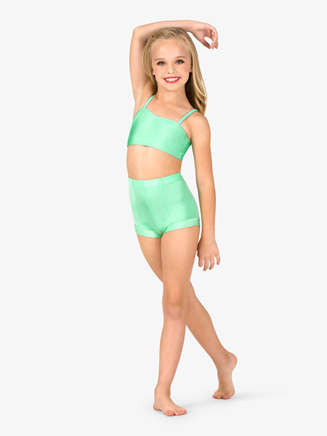 Child Boy-Cut High Waist Emballe Dance Short - Style No N7143C