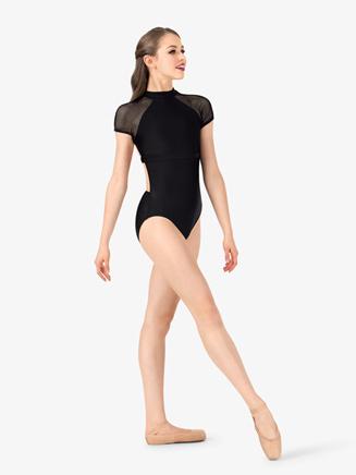 Womens Mesh Short Sleeve Leotard - Style No N7224x