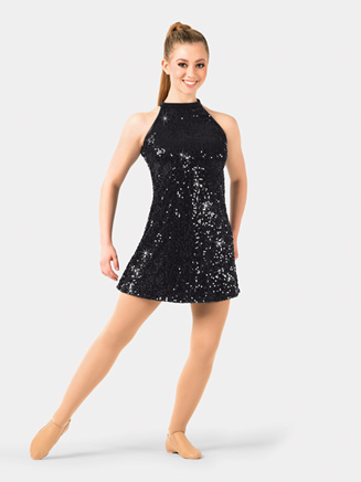 Adult Sequin Halter Dress - Style No N7310