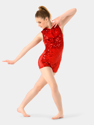 Adult Sequin Racerback Shorty Unitard - Style No N7315