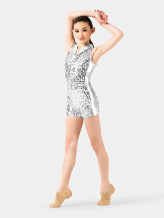 Girls Sequin Racerback Shorty Unitard - Style No N7315C