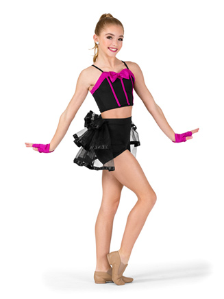 Womens Two-Tone 2-Piece Dance Costume - Style No N7569