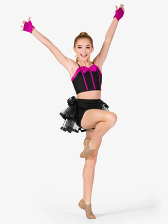 Girls Two-Tone 2-Piece Dance Costume - Style No N7569C