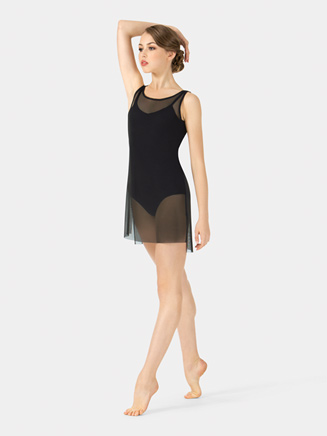 Adult Boatneck Mesh Tank Dress - Style No N7602