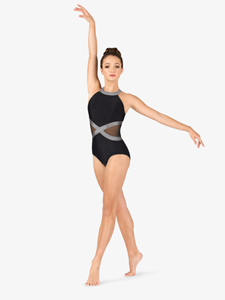 Womens Performance Two-Tone Mesh Tank Leotard - Style No N7660