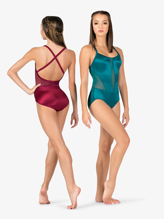 Womens Performance Satin X-Back Camisole Leotard - Style No N7682