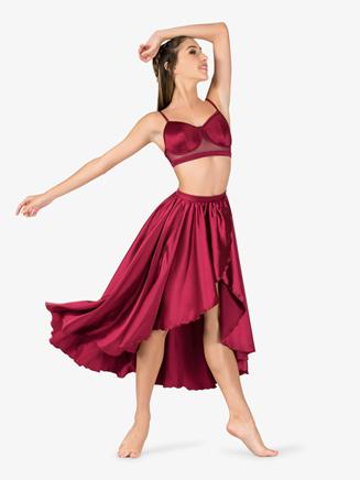 Womens Performance Satin Asymmetrical Skirt - Style No N7684