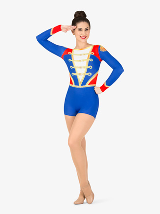 """Womens Performance """"Toy Soldier"""" Long Sleeve Printed Shorty Unitard - Style No N7761"""