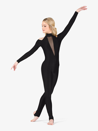 Womens Performance Open Shoulder Stirrup Unitard - Style No N7771
