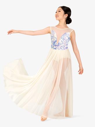 "Girls Performance ""Aria"" Sequin Tank Dress - Style No N7774C"