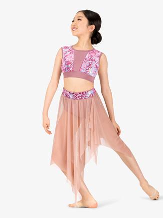 """Girls Performance """"Aria"""" Mesh Skirt - Style No N7775C"""