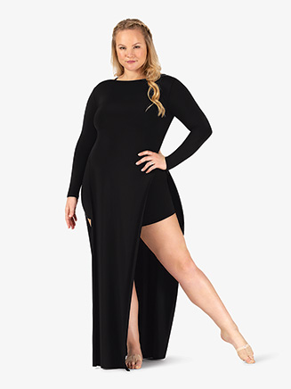 Womens Plus Size Performance Long Sleeve Tunic Dress - Style No N7776P