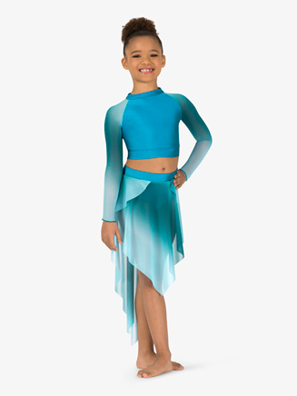 Girls Performance Ombre Mesh Crop Top - Style No N7782C