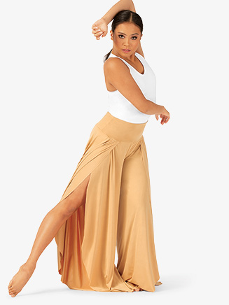 Womens Dual Slit Petal Lyrical Pants - Style No N7785