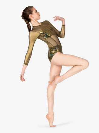 Girls Performance Iridescent Metallic Leotard - Style No N7805C