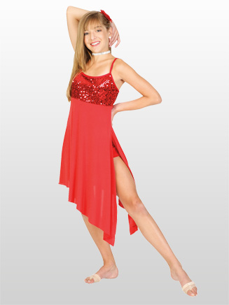 Adult Asymmetrical Camisole Dress - Style No N8430