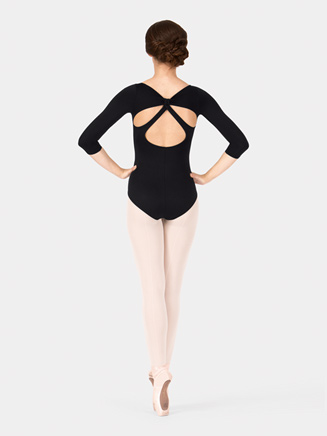 Adult Cut Out Back 3/4 Sleeve Leotard - Style No N8625