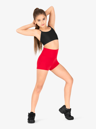 Girls Matte Nylon Dance Shorts - Style No N8641MC