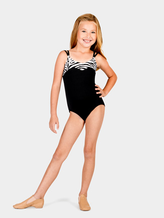 Child Camisole Leotard with Zebra Trim - Style No N8804C