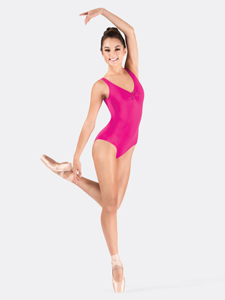 Adult Microfiber Pinch Front Tank Leotard - Style No N8808