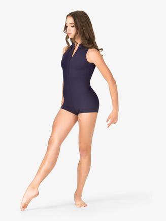 Adult Sleeveless Plunging Back Shorty Unitard - Style No N8947