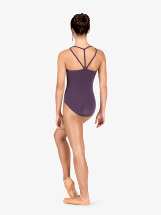 Studio Collection Womens Strappy Back Cotton Camisole Leotard - Style No N9019