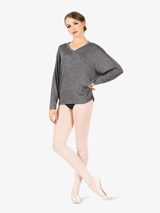 Womens Batwing Long Sleeve Warm Up Sweater - Style No N9081