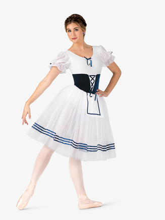 "Womens ""Giselle"" Puff Short Sleeve Costume Dress - Style No N9097x"