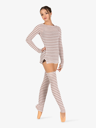 Womens Knit Warm Up Long Sleeve Tunic Top - Style No N9102
