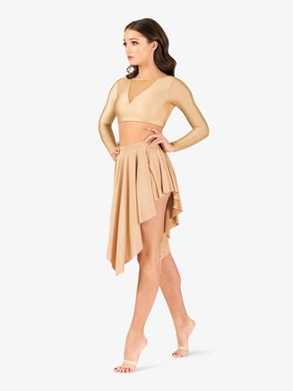 Womens Lyrical Flow Long Sleeve Crop Top - Style No N9111