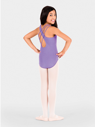 Asymmetrical Child Tank Leotard - Style No N9502C