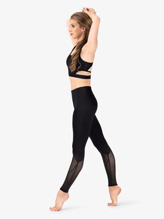 Womens Mesh Insert Fitness Leggings - Style No NA132
