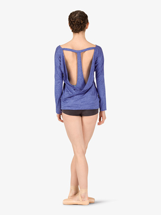 Womens Workout Batwing T-Back Long Sleeve Top - Style No NA158