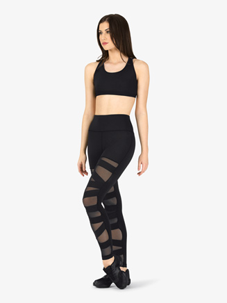 Womens Compression Crisscross Fitness Leggings - Style No NA163