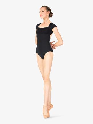 Womens Shirred Bodice Cap Sleeve Leotard - Style No P173x
