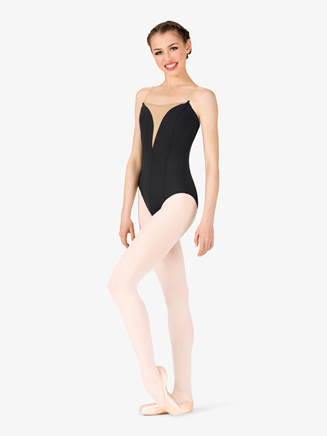 Womens Faux Plunging Sweetheart Camisole Leotard - Style No P644x