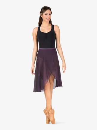 Womens Long Georgette Ballet Wrap Skirt - Style No P69L