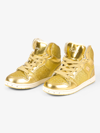Glam Pie Glitter Gold Sneakers - Style No PA133021