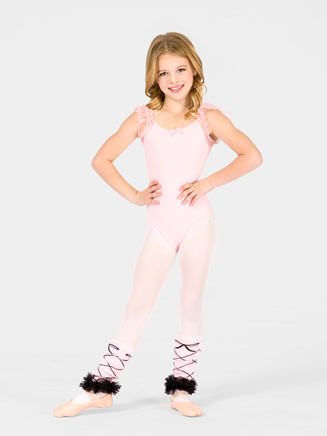 Girls Flutter Sleeve Dance Leotard - Style No PB103C