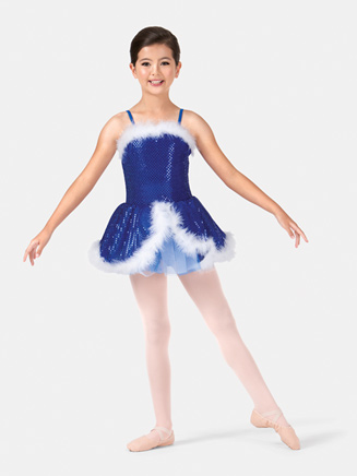 Girls Camisole Sequined Costume Dress - Style No PB2000C