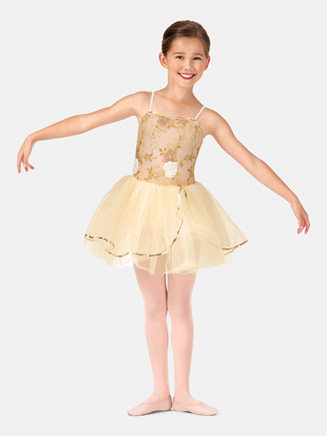 Girls Camisole Embroidered Tutu Costume Dress - Style No PB2013C