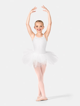 Girls Tank Shimmer Dot Tutu Dress - Style No PB2020C